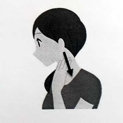 耳下から側頸部のマッサージ