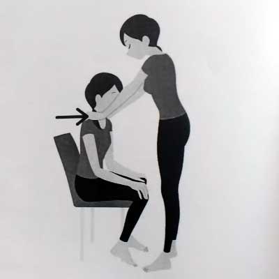 座位腹筋運動マッサージ